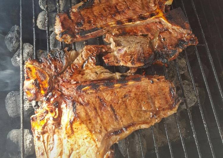 Sharon's grilled steaks
