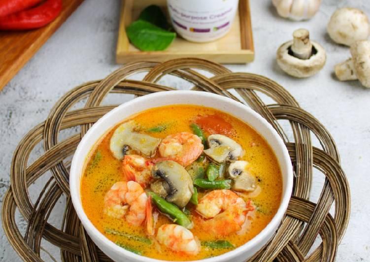 Sup Udang Jamur Pedas