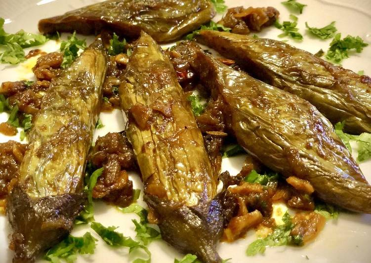 Step-by-Step Guide to Prepare Ultimate Sweet and tangy aubergine #Newyearnewyou