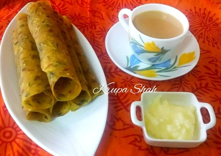 50+ Dinner Ideas Fall Thepla with ghee and tea