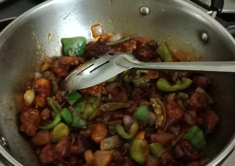 Recipe of Quick Chilli Chicken Dry