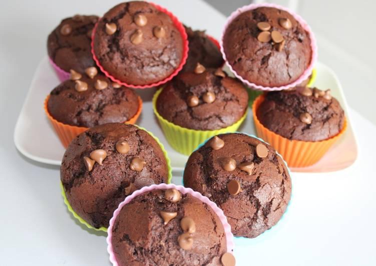 Nos 10 Meilleures Recettes de Muffin tout chocolat