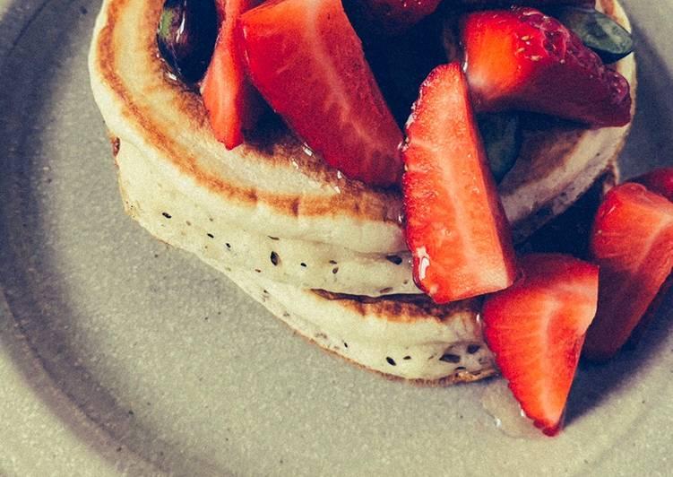 Simple Way to Prepare Super Quick Homemade Sourdough pancakes 🥞