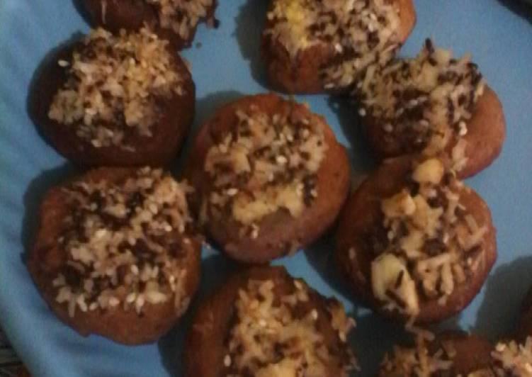 Langkah Mudah untuk Membuat Donat imut ubi ungu keju coklat wijen Anti Gagal