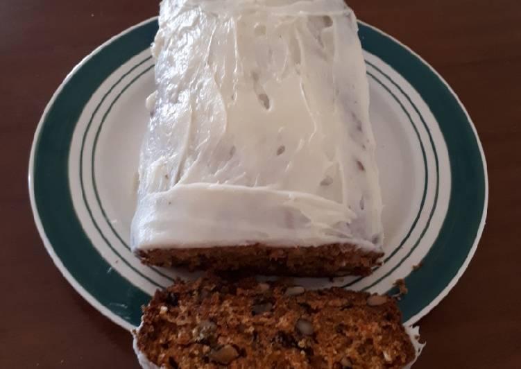 Carrot cake et glaçage vanille