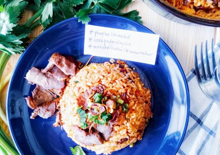 Cara Mudah Masak: Nasi Goreng Daging Salai  Lazat