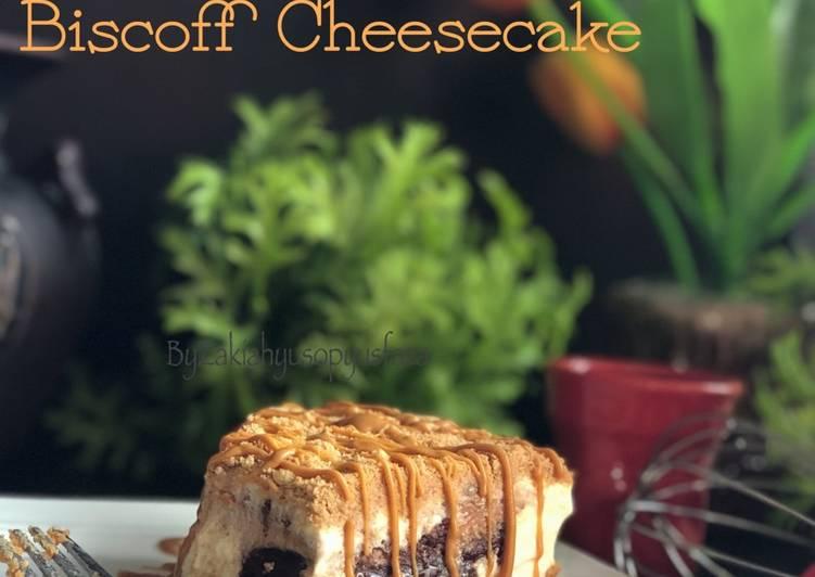 Non bake biscoff cheesecake