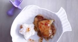 Hình ảnh món Cơm trắng cá lóc phile sốt chua ngọt