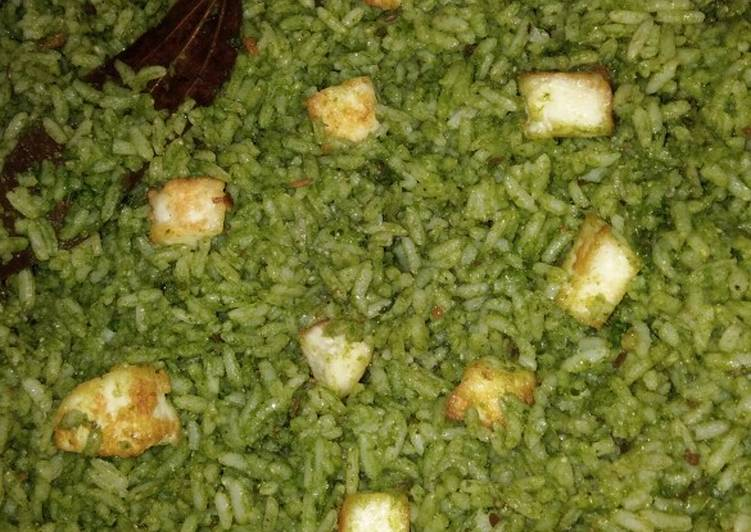 How to Prepare Quick Palak Rice