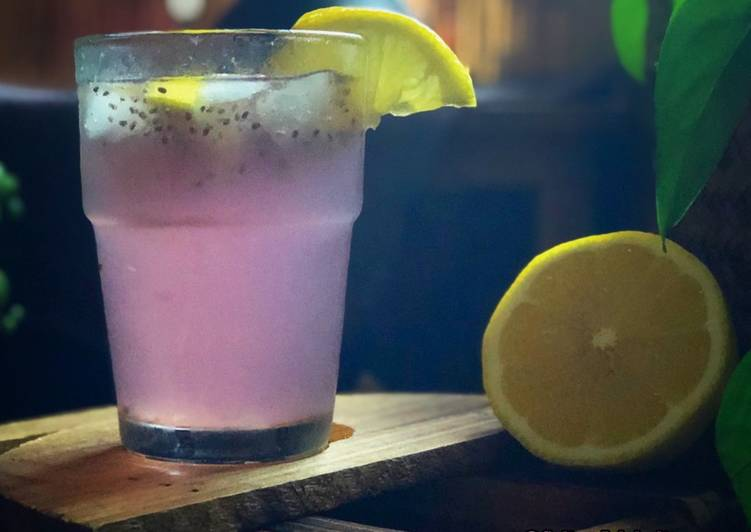 Lemonade Ungu Selasih - resepipouler.com