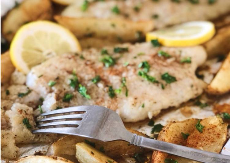 Crispy Pan Fried Fish with Lemon Butter Sauce