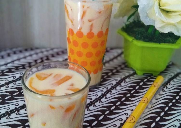 Manggo milky jelly drink🥭