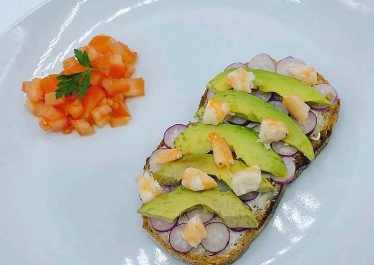 Recette Appétissante Tartine à l'Avocat