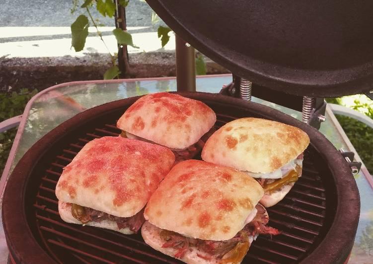 Smoked Italian Beef Sandwiches