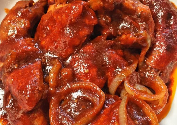 One Pot Sambal Ayam Kicap #goldenapron2020 - velavinkabakery.com