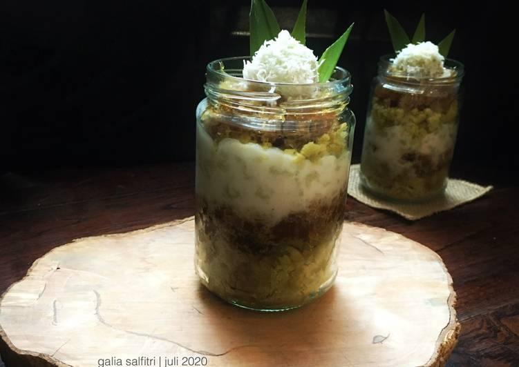 Resep Klepon cake in jar