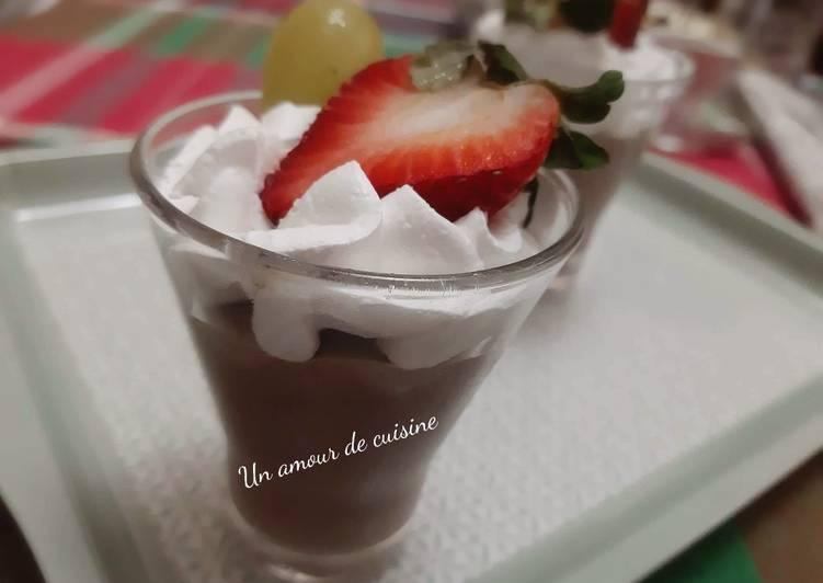 Comment Préparer Les Crème au chocolat 🍫🍓🍇