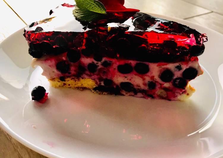 Deser jagodowo/jogurtowy główne zdjęcie przepisu
