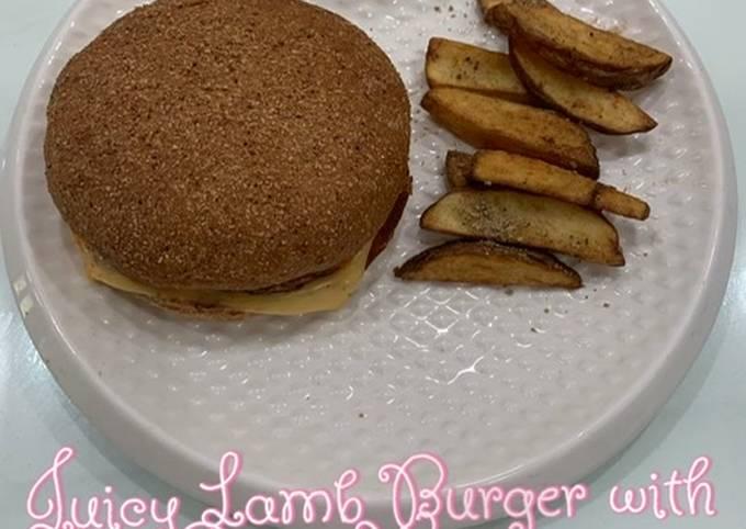 Juicy lamb burger