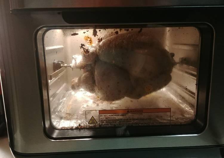 Buttermilk Brined Rotisserie Chicken