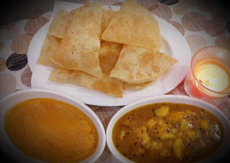 How to Prepare Any-night-of-the-week Halwa Poori
