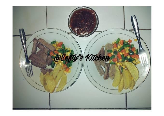 Resep 🍽️Steak daging sapi🍽️ yang Enak Banget