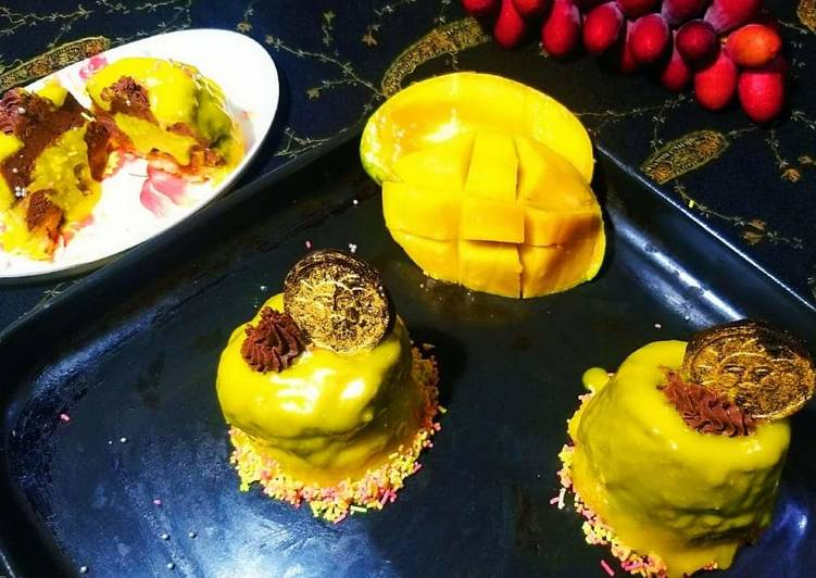 15 Minute Recipe of Diet Perfect Mango chocolate mousse cupcake