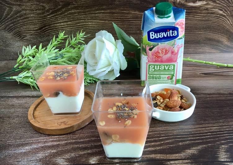 Yogurt rasa Guava merah Simpel