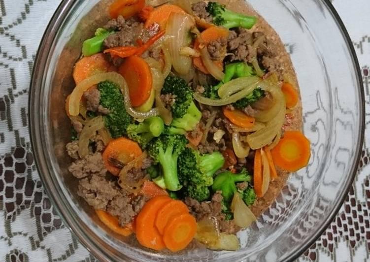 Tumis Brokoli Wortel Daging Sapi