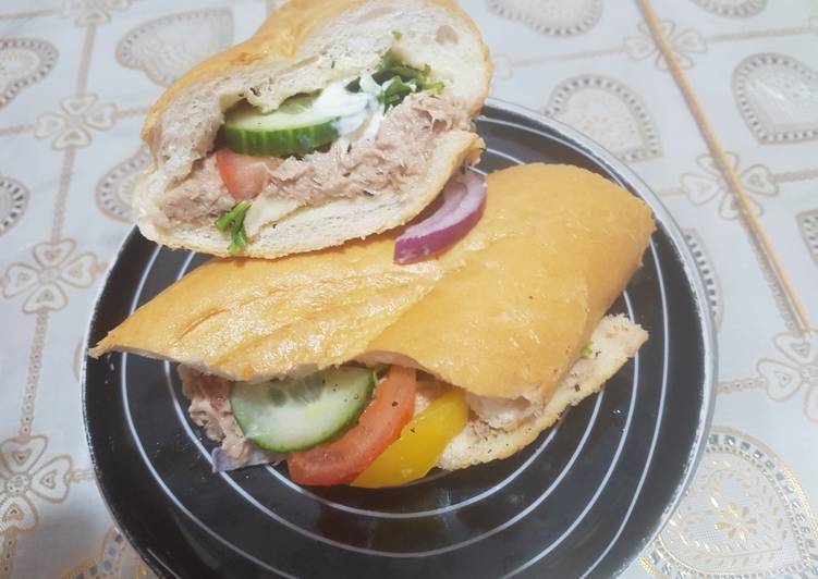 Recipe: Yummy Tuna baton sandwich