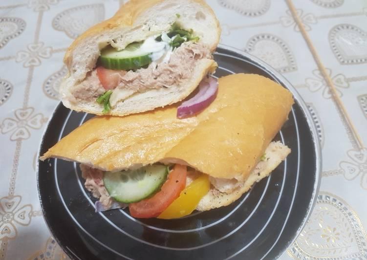 Recipe: Yummy Tuna baton sandwich