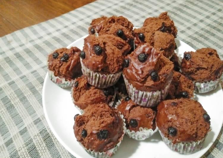 Resep Mufin Coklat Pisang Kukus a.k.a Steamed Choco Banana Muffins, Bikin Ngiler