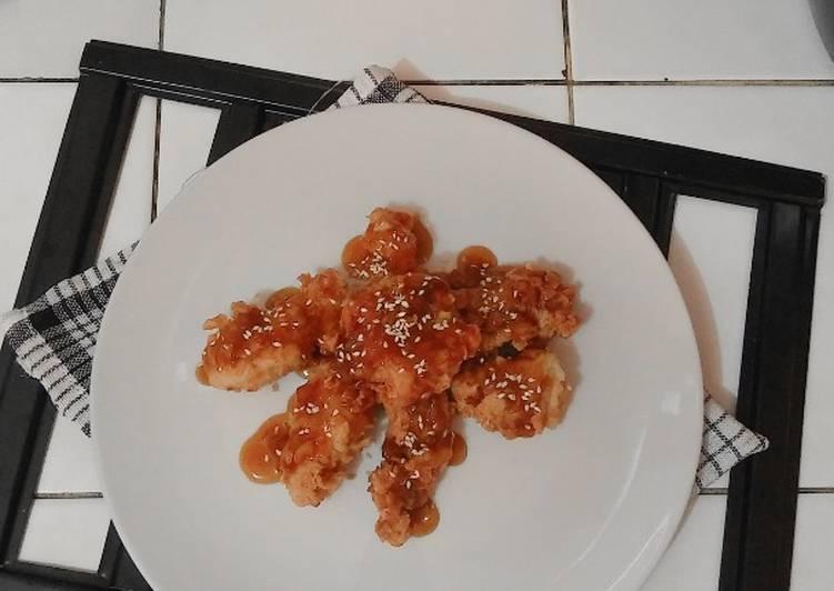 Ayam Goreng Tepung Krispi Saus Madu Bawang Putih