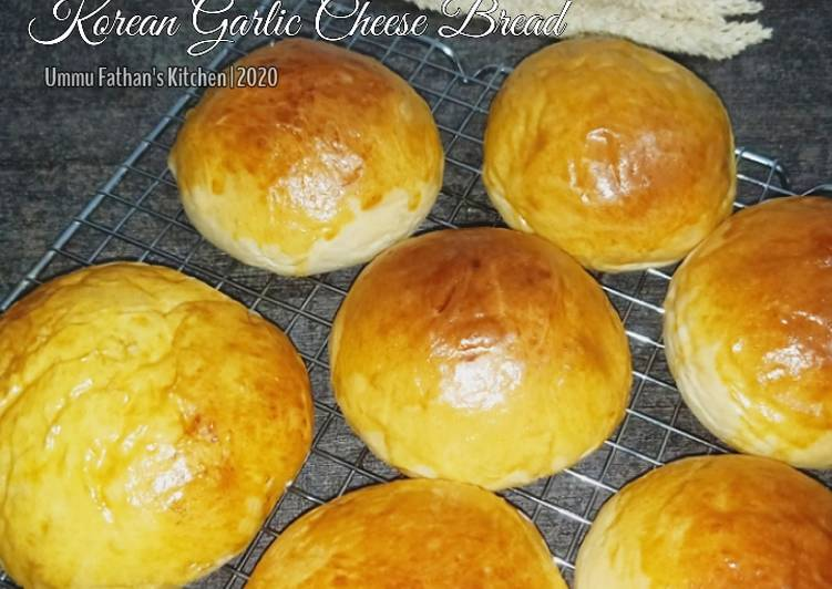 Roti Bun untuk Korean Garlic Cheese Bread (No Mixer)