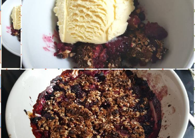Recipe of Ultimate My Crisp Mixed Berries Treat