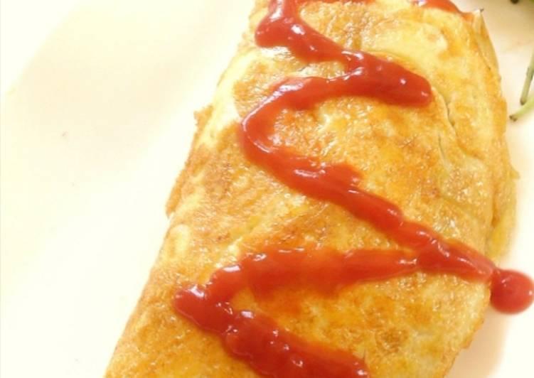 Omelette facile au riz [recette japonaise]