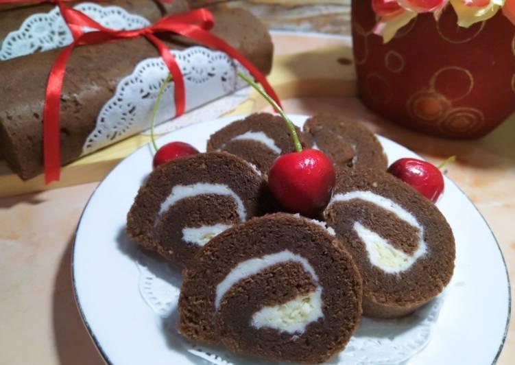 Brownies kukus gulung (77)