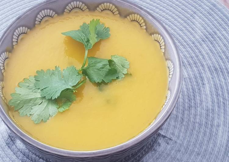 Soupe thaï carotte lait de coco