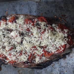 Sabalo o boga a la pizza