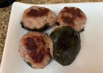Easiest Way to Make Perfect Pork Tsukune with Nori Seaweed