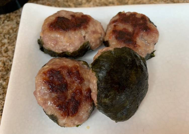 Recipe: Perfect Pork Tsukune with Nori Seaweed
