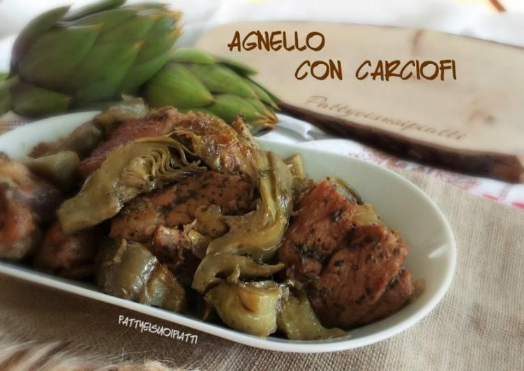 Ricetta Agnello con carciofi cotto in padella