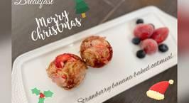 Hình ảnh món Strawberry banana baked oatmeal - ăn dặm
