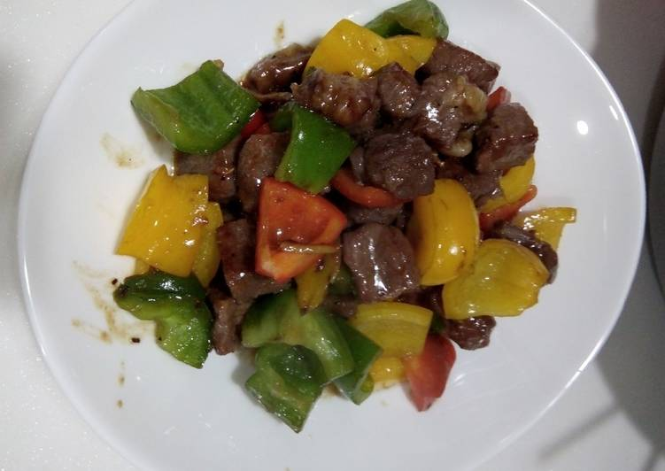 Beef lada hitam saus tiram