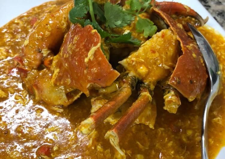 Kepiting kari (chili crab)