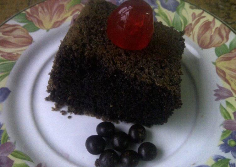 Bolu ketan hitam (bakar)/ sticky rice cake (baked)