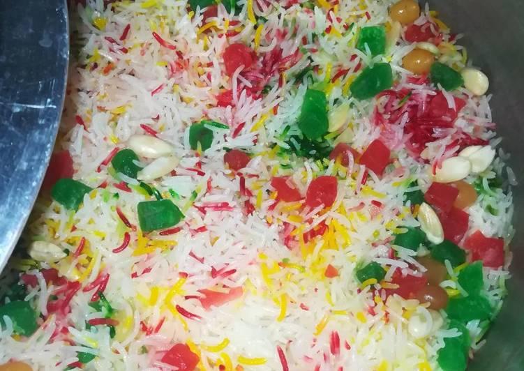 Colour Full Zarda Recipe