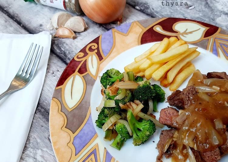 Steak Saos Lada Hitam (rumahan)