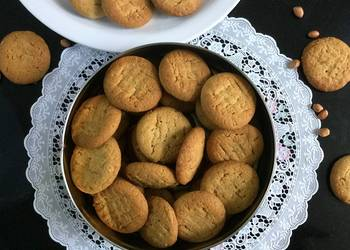 Easiest Way to Recipe Perfect Eggless Peanut Butter Cookies
