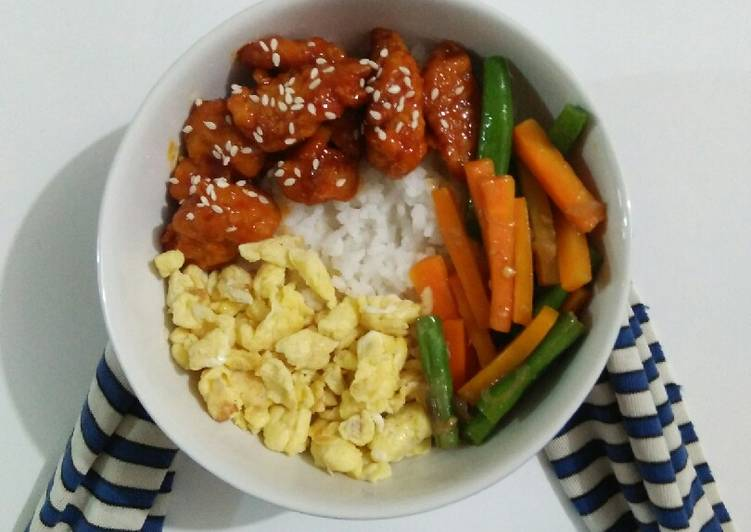 Resep Spicy Chicken Rice Bowl Oleh Bani Ferizqa Oohbani Cookpad